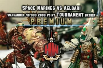 Space Marines vs Aeldari